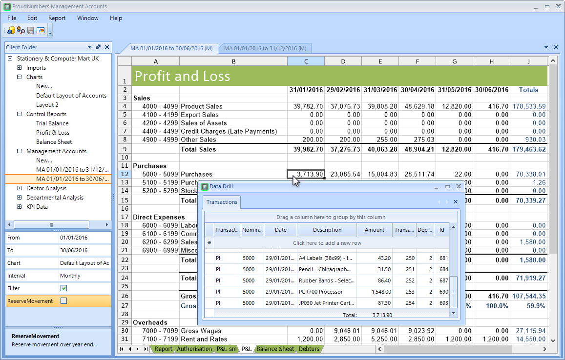 ProudNumbers Management Accounts Software